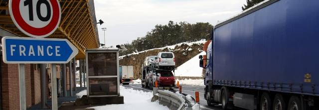 Le PERTHUS réouvert entre la France et L' Espagne