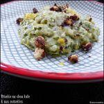 Risotto au chou kale (chou plume)