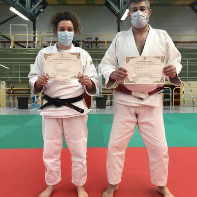 Deux enseignants du Kumo en stage national Taïso/Judo Santé