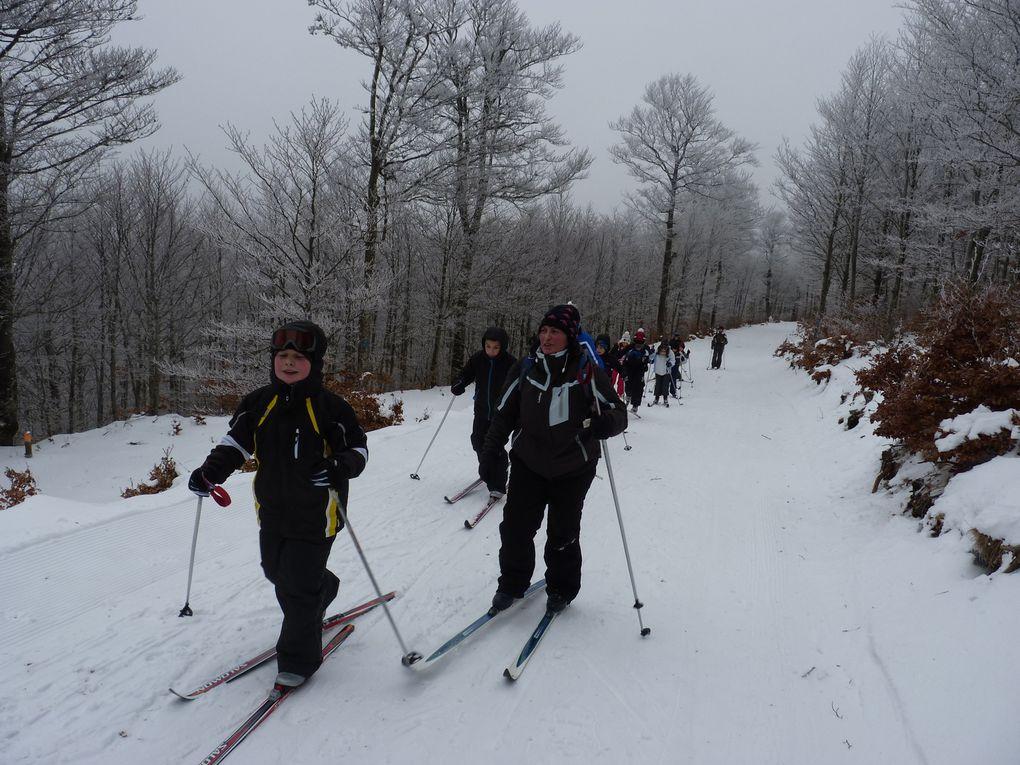 ski de fond sur le Mont Aigoual en février 2015