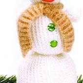 Tutoriel au tricot - Bonhomme de neige - Passionnement Créative