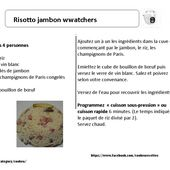 Fiche Recette cookeo : risotto jambon weight watchers  