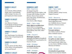 31e Salon international du livre de montagne, les 6, 7 et 8 août, à Passy (74)