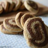 Sablés roulés vanille/cacao, bio, sans oeufs ni gluten - Allergique Gourmand