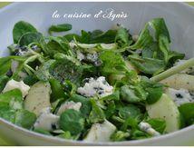 Salade verte et bleue