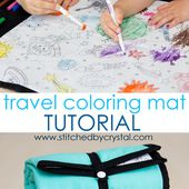 STITCHED by Crystal: Travel Coloring mat with Color Me fabric