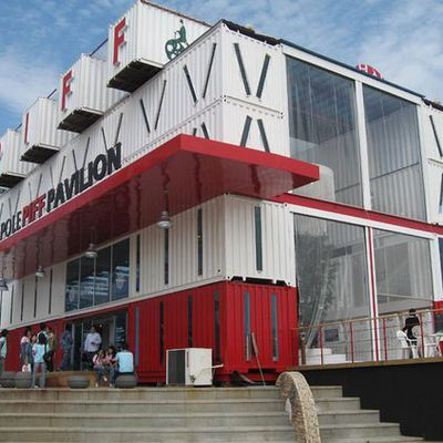 How can build a shipping container mall