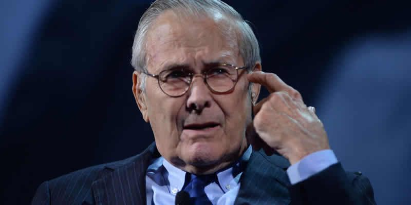 Donald Rumsfeld, ancien secrétaire à la défense sous George W. Bush, est mort