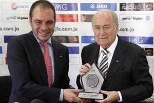 Il Principe Ali e Sepp Blatter