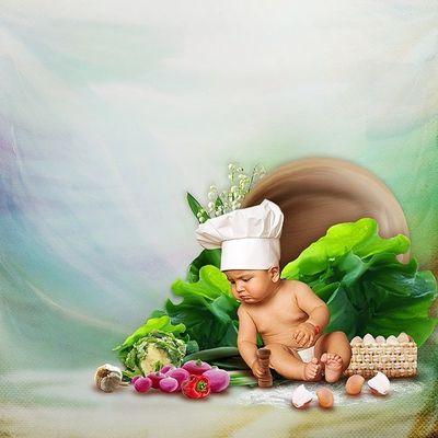 Bon appétit - Enfant - Bébé - Cuisinier - Picture - Free