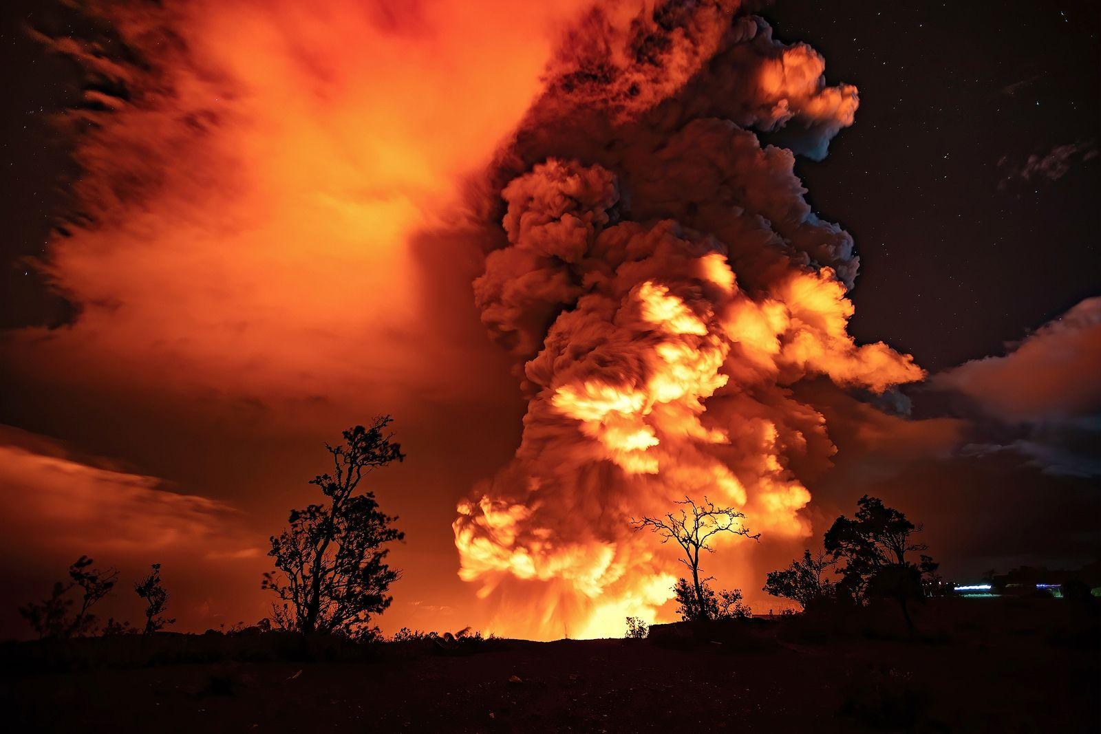 Kilauea - Halema'um'u eruption on 12/21/2020 / 11 a.m. - photoHawaii NPS