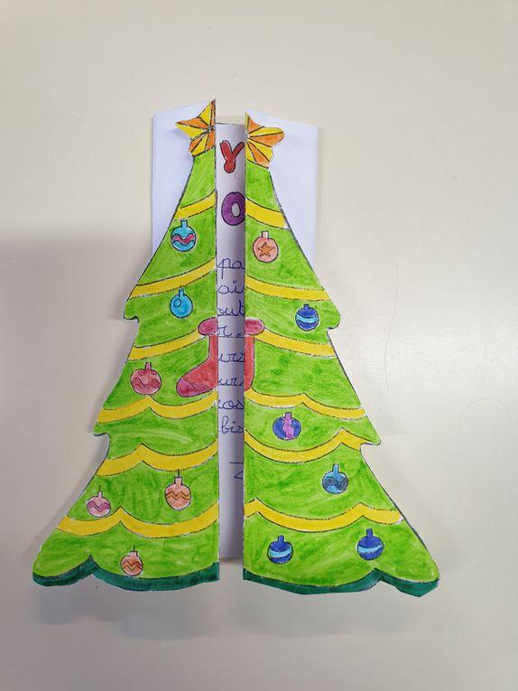 Les cartes de Noël des CP-CE1