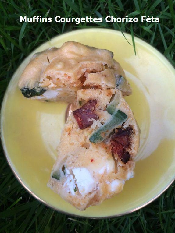 Muffins Courgettes Chorizo Féta