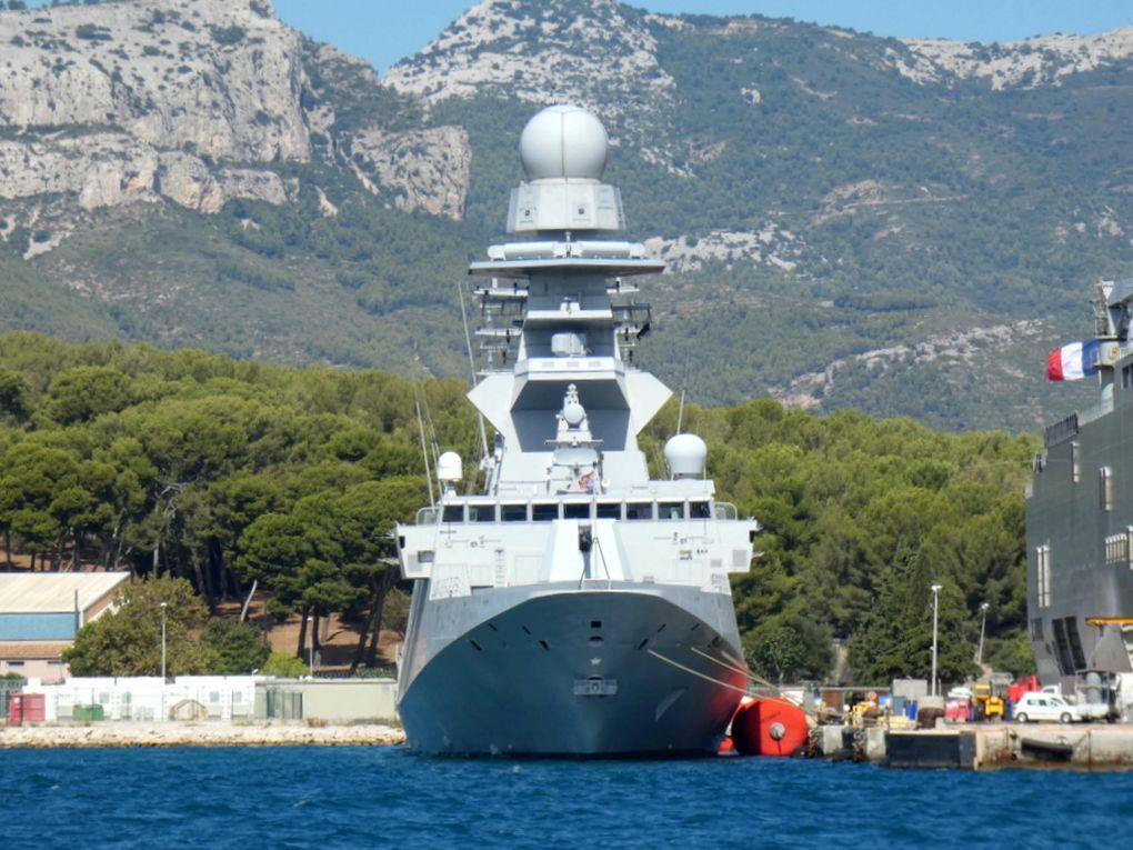 LUIGI RIZZO , F595 frégate europenne muiti missioms (FREMM) a quai dans la base navale de Toulon le 13 septembre 2019