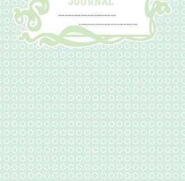 Composition Journal : A 6x9 Inch Matte Softcover Paperback Notebook Journal With 120 Blank Lined Pages - Cursive Paper-Geometric Pattern Mint Green Circles