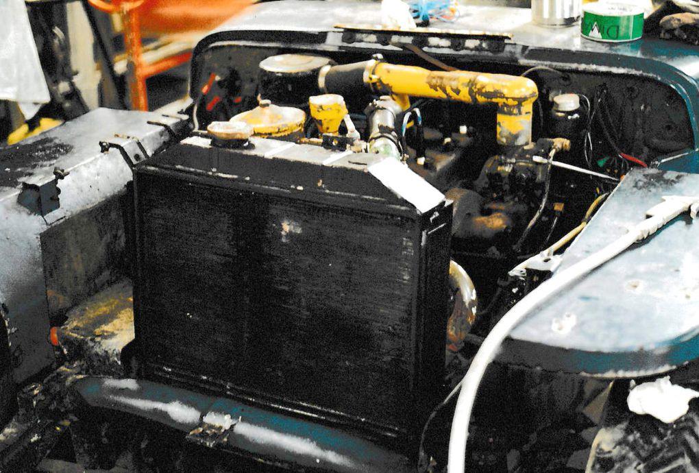 credit photo alain Chaussade - le vieux moteur dans un état désastreux