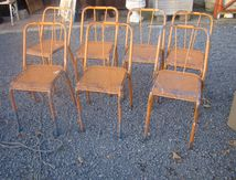 SERIE DE CHAISES METAL (VENDUES)