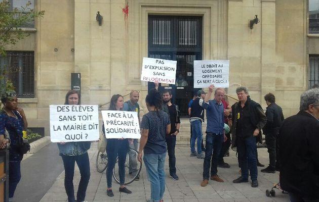 Delannoy, des logements il y en a! Un logement c'est un droit! Pas d'expulsion sans relogement! Solidarité avec les expulsés!