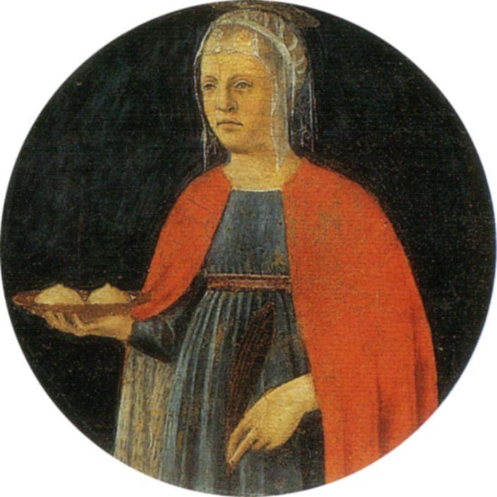 Prière n° 89: Prière à Sainte Agathe contre les douleurs et gerçures aux seins