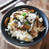 Risotto champignons et Pancetta