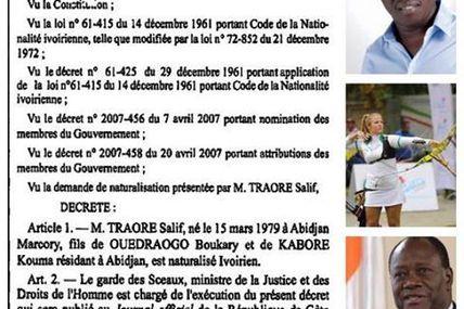 #Frangili / Ouattara prive la CI d'une athlète aux JO pour ne pas citer Gbagbo qui l'a naturalisée !