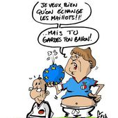 Humour Foot France-Allemagne: Angela Merkel à François Hollande