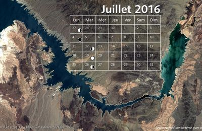 Le calendrier spatial de juillet 2016 : welcome to the Fabulous Las Vegas !