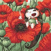 Poppy fairy photo stitch free embroidery design