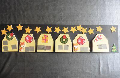 Le petit village de Noël (collage)
