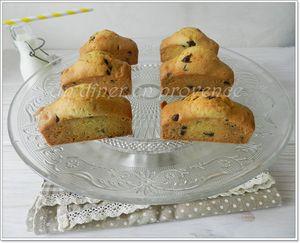 Petits cakes aux pépites de chocolat