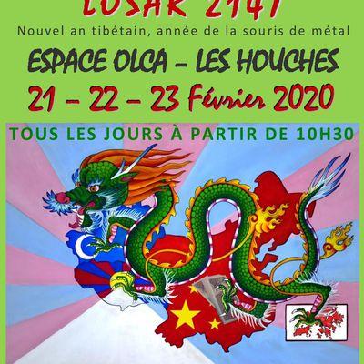 Programme du Losar 2147 - Nouvel An Tibétain aux Houches du 21 au 23 février 2020