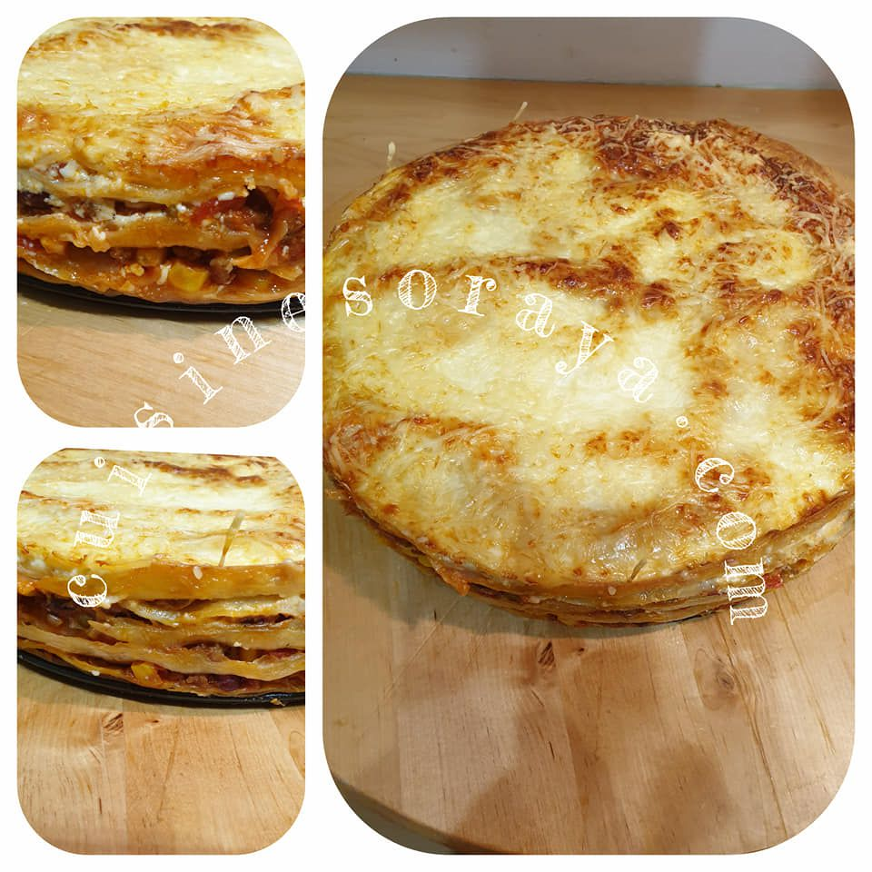 Lasagnes tortillas mexicaines
