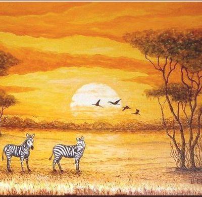 Tableau Africain safari.