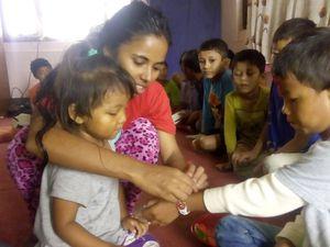 les enfants retrouvent le sourire