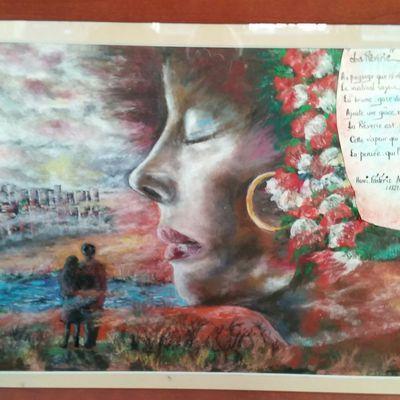 Expo - quelques oeuvres - aquarelle, huile, acrylique, pastel à l'huile - poésies
