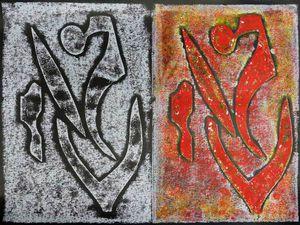 Peintures d'Elisabeth Tharsis-Mugnier (monotypes - cliquez pour agrandir)