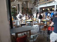 Restaurant La Recyclerie. Porte de Clignancourt. Paris.