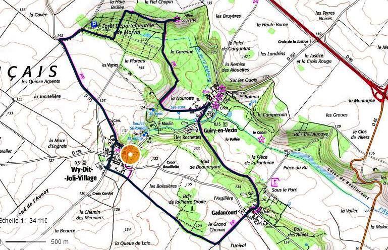 Le circuit de la journée hors trajet  musée de l'Outil à Wy-dit-Joli-Village