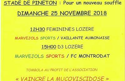 Football et solidarité à Marvejols  (48) le 25.11.2018