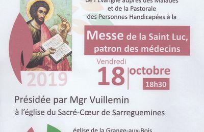 Messe de la Saint Luc, patron des médecins