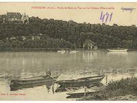 Sélection de cartes postales des années 1910 illustrant la proximité de Porte-Joie avec l'élément aquatique qui, en retour, explique la localisation de la commune.