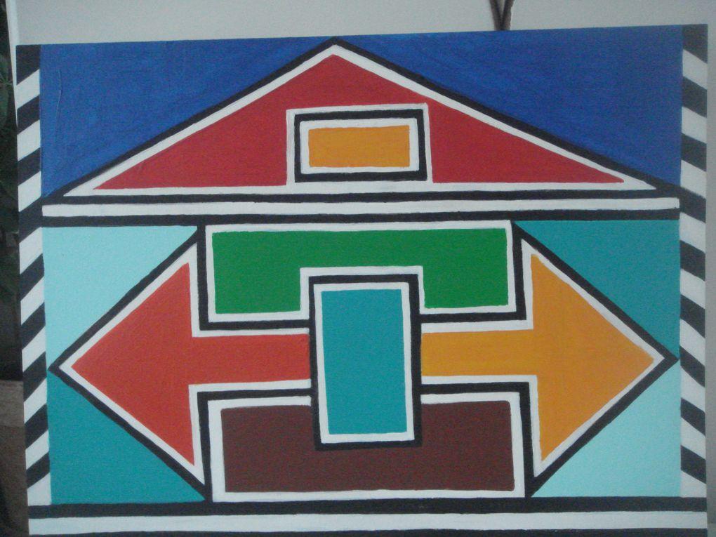 Panneaux d'affichage N'debele réalisés au Siège de l'APHP le 7 novembre