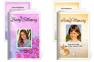 The Funeral Programs Site Has Wonderful Memorial Service Cards