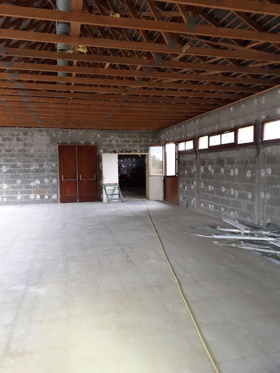 Salle des fêtes, premiers travaux