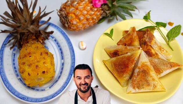 Tous en Cuisine : L'ananas confit au four et les bricks de poulet rôti de Cyril Lignac !