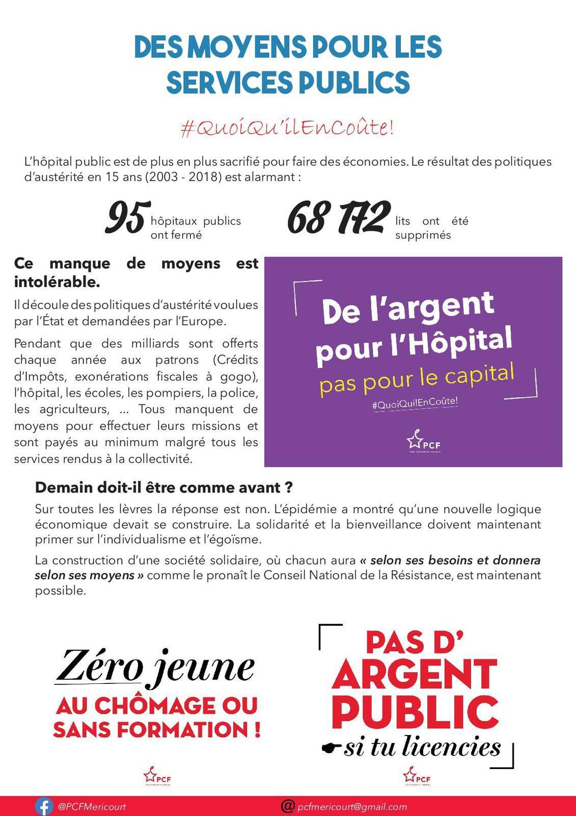 La Gaillette rouge : le premier numéro du nouveau bulletin de section du PCF de Méricourt