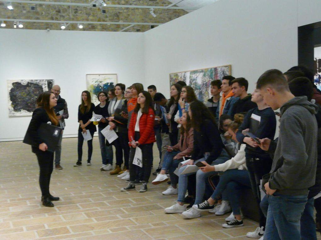 Visite de l'exposition consacrée à Mitchell et Riopelle au FHEL