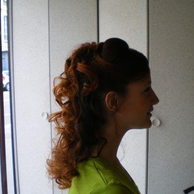 Mon essai coiffure de mariée bouclée