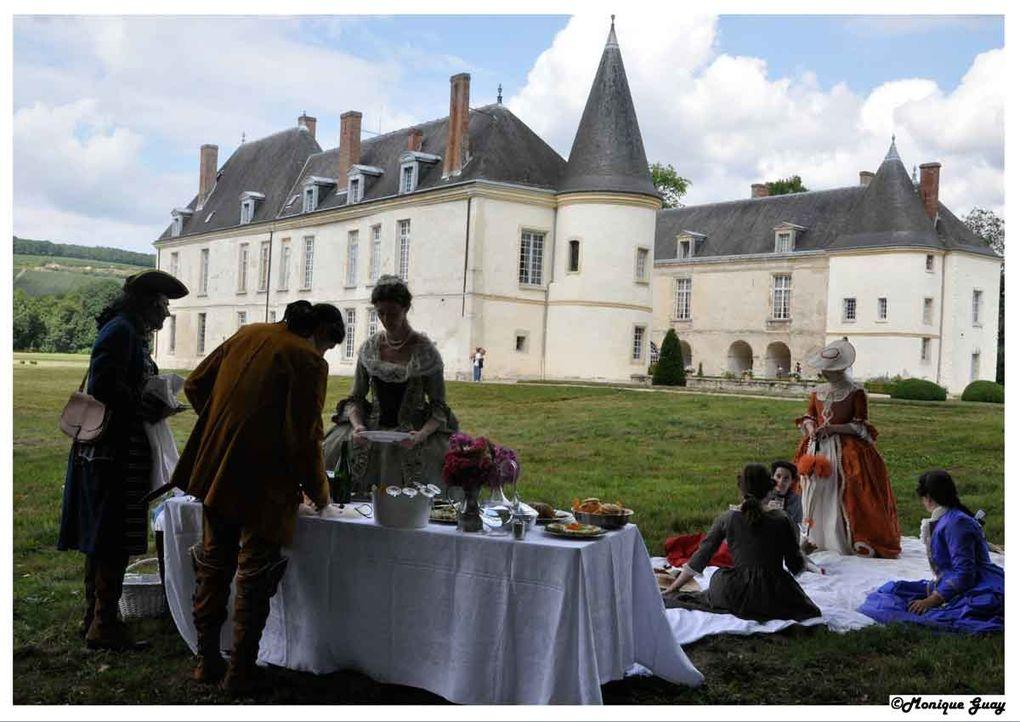 Lors de ma visite en ce dimanche 8 août 2010 à l'occasion des Fêtes Galantes et du déjeuner de chasse.