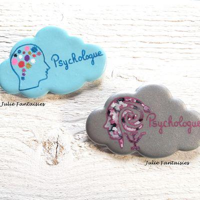 2 Badges pour psychologue